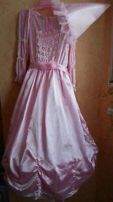 traumhaft schönes Prinzessin Kleid aus Samt&Satin, Gr.140, NEU, Faschingskostüm