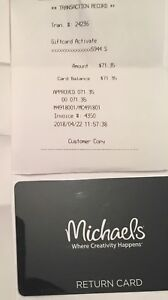 Michaels craft store gift card
