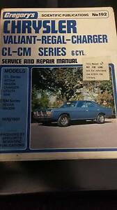 CHRYSLER CL CM VALIANT CHARGER 6 CYL WORKSHOP MANUAL Hendon Charles Sturt Area Preview