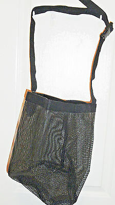 Formay Black 94234 mesh horse feed bag,western tack, western trail,pleasure,