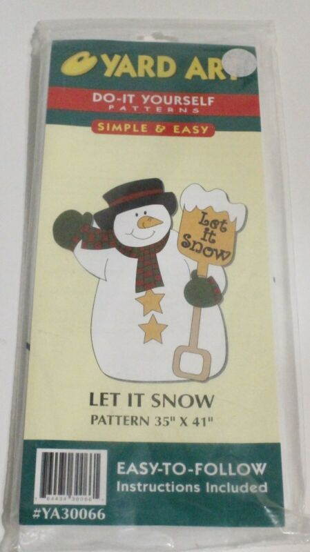 NIP Yard Art Woodcraft Pattern LET IT SNOW Snowman
