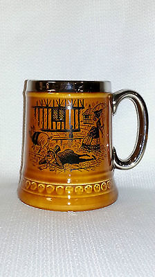 "Vintage Princess House ""Drunk In The Gutter"" Fine Earthenware Stein With Poem"