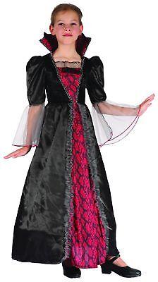Rot-schwarzes Vampirkostüm für Mädchen Cod.221886 ()