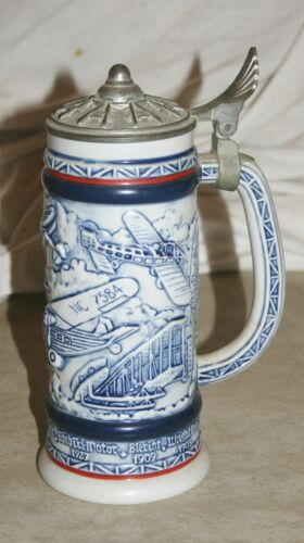 VINTAGE 1981 AVON FLYING CLASSICS AIRPLANES LIDDED STEIN