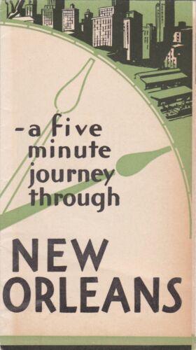 1930 New Orleans History & Statistics Brochure
