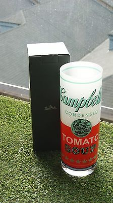 Sale 40% OFF NEW Hipster Campbell's Soup Crystal Vase Andy Warhol by Rosenthal