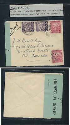 Barbados   blue censor tape cover  to  Canada