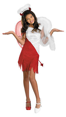 Heavenly Tween Heavenly Devil Child Costume Girls Red White Fancy Dress Disguise - Heavenly Devil Child Costume