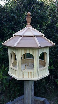 Large Wood Octagon Gazebo Bird Feeder Amish Gazebo Homemade Handcrafted Handmade
