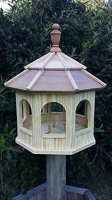 Large Wood Octagon Gazebo Bird Feeder Amish Gazebo Homemade Handcrafted Handmade