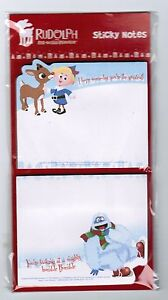 Rudolph the Red Nosed Reindeer 2 STICKY NOTE Pads! Hermey Elf Abominable snowman