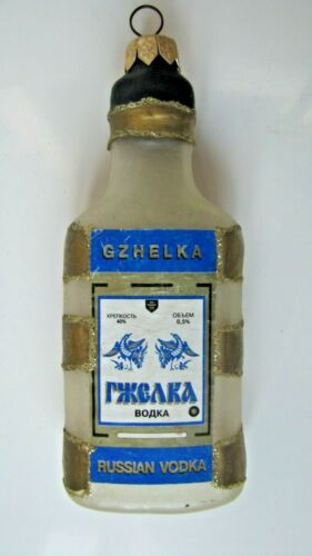 "Christmas tree toy, rare, vintage, Russian Vodka ""GJELKA"", 4.8"""