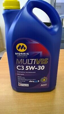 Morris Lubricants Multivis C3 ADT 5W30 Fully-Synthetic Motor Engine Oil 5LT