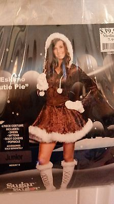 Junior Girl's Size M Eskimo Halloween Costume](Eskimo Halloween Costume Girl)