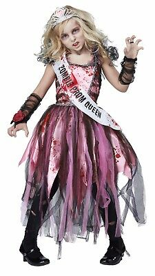 Bloody Undead Prom Queen Girls Child Zombie Halloween Costume