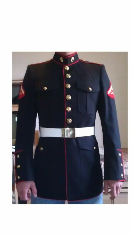 usmc dress blues belt ebay