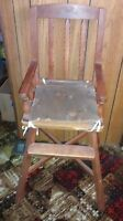 ANTIQUE TODDLERS HIGH CHAIR