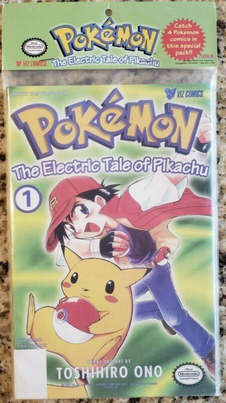 Vintage Nintendo The Electric Tale of Pikachu, 4 volume set from Viz Comics, NEW