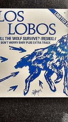 "LOS LOBOS "" WILL THE WOLF SURVIVE ? ( REMIX) "" RARE 10"" VINYL"