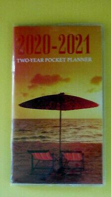 2020 2021 2 Yr Planner Beach Ocean Sunset 2 Year Small Calendar Pocket Purse