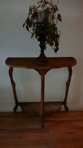 Very old antique half table.
