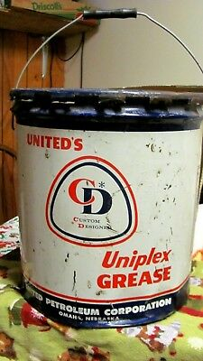 5 Gal United's Custom Designed Uniplex Grease/ United  35 lb. Oil Can Omaha NE