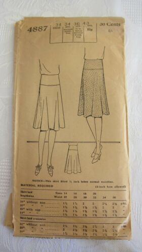 Antique 1925 PICTORIAL REVIEW Sewing Pattern Women