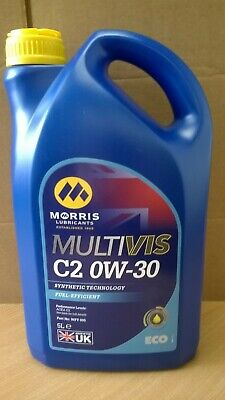 Morris Lubricants Multivis 0W30 (C2) Synthetic Motor Engine Oil 5LT