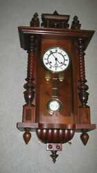 Antique German Vienna Regulator Wall Clock