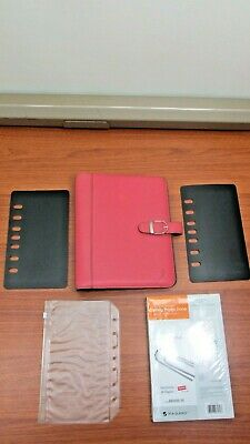 Pink Ribbon Leather Day Timer Planner Binder Classic Franklin Covey