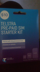 $10 Telstra prepaid sim card Mayfield West Newcastle Area Preview