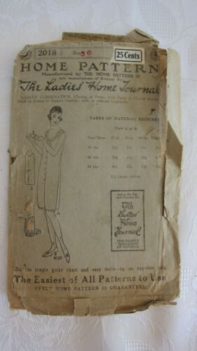ANTIQUE LADIES HOME JOURNAL PATTERN #2018, LADIES COMBINATION, SIZE 36 UNPRINTED