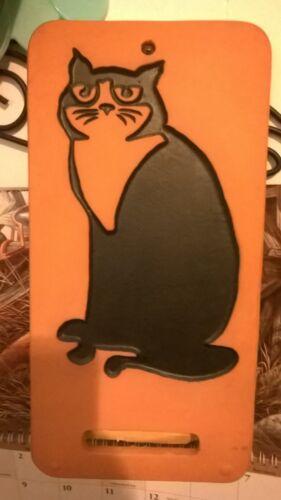 BLACK CAT WALL PLAQUE & PLANT HOLDER