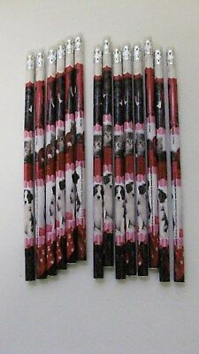 Lot Of 14 Valentine Puppy and Kittens Holiday Wood Pencils - Valentine Pencils