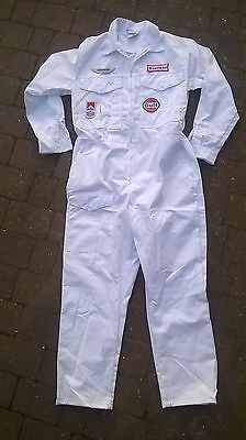 Goodwood Revival Classic Vintage Style white Overalls pit race crew