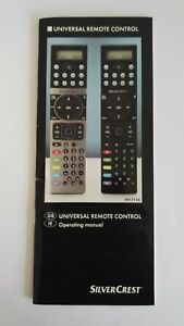 SilverCrest Universal Remote Control with instructions - Model: KH2156