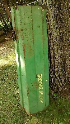 Vintage Antique John Deere Original Tractor Hood Gas Fuel Tank