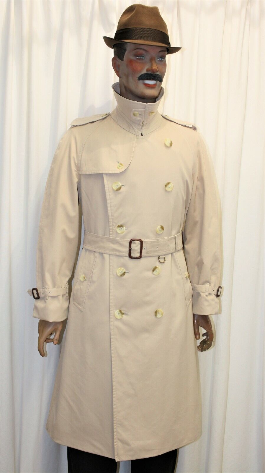 Trench imperméable burberry's homme beige taille 52 r made in england