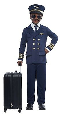 Airplane Pilot Aviator Flight Captain Child Costume