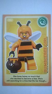 Sainsbury's Lego Trading Card : 'Bumblebee Girl.' No. 86. (ALL CARDS AVAILABLE.)