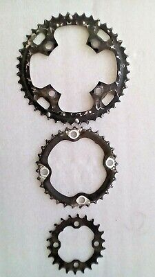 BMX SPIDER SINGLE SPEED Chain ring CHAIN WHEEL Bolt Set of 5 BLACK  7.5mm