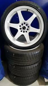 WHEEL & TYRE PACKAGE KING 18x8 & ALTENZO 225/40R18 Nunawading Whitehorse Area Preview