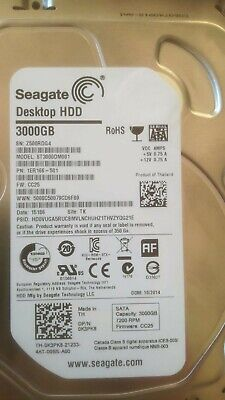 "Seagate 3 TB, Interno, 7200 RPM, 3.5"" Disco Rigido hdd hard disk"
