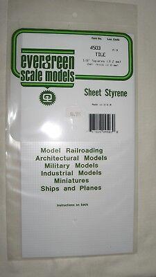 Evergreen Sheet Styrene Tile .040