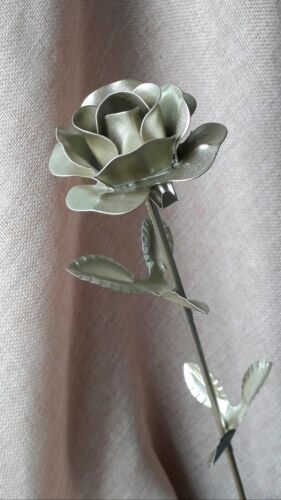 Metal Rose Silver Color Decoration Floral Roses Gift Flower Steel Rose Роза