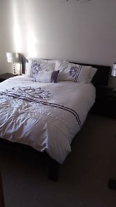 Queen size bed plus 2 x bedsides Georgetown Newcastle Area Preview