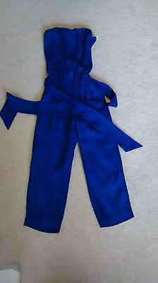 Womens stretchy blue sleeveless XS Express capri jumper romper Capri-jumper
