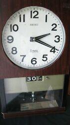 Seiko Wall Clock, Electric, unique, VERY RARE, PENDELUM CLOCK.