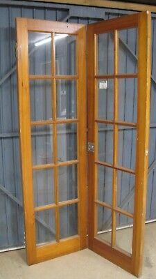 Reclaimed pine solid wood softwood fully glazed folding Internal Door 46