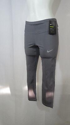 Nike Womens Power Crop Sprinter Pants Grey Running Dri-Fit 884014-036 Many Sizes